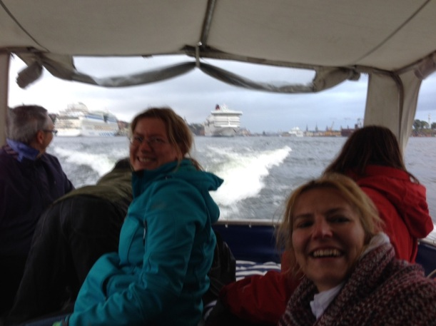 Picture 5: our transfer on a small taxi-boat to the far-away island Ekskäret